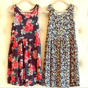 Two Floral Print Dresses